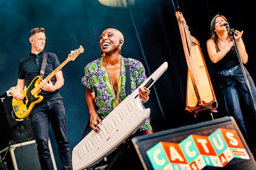 With Laura Mvula in Belgium 2016