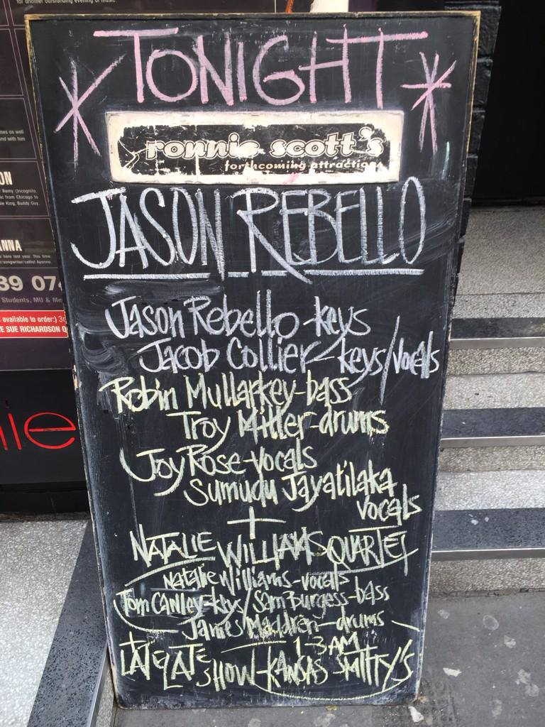 Jason Rebello line-up
